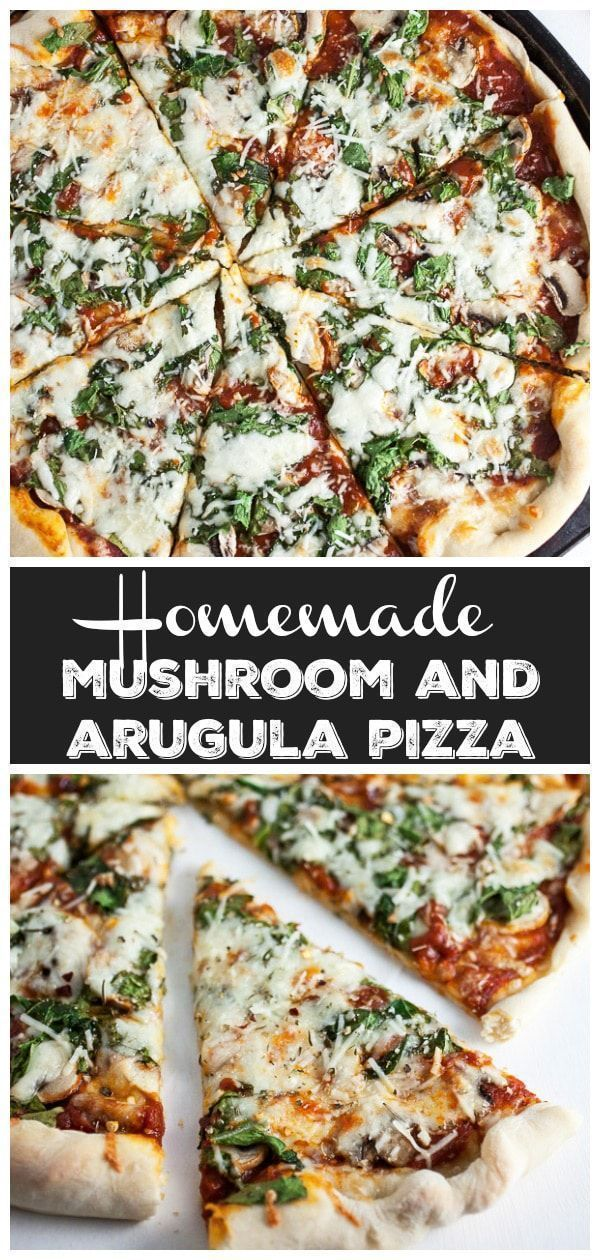 Homemade Mushroom and Arugula Pizza This Homemade Mushroom and Arugula Pizza is one of the best fresh and healthy vegetarian pizza recipes out there Its got an easy homem...