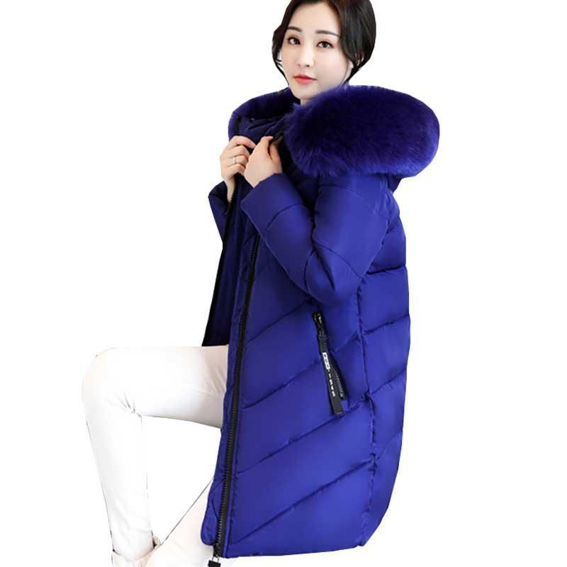 feb72e64b0b2a Thicker Big Fur collar winter jacket women 2018 New Ukraine 6XL Plus size  womens down jackets Hooded Long Coat Female Parkas 274.