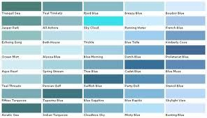 Blue Paint Colour Charts Google Search