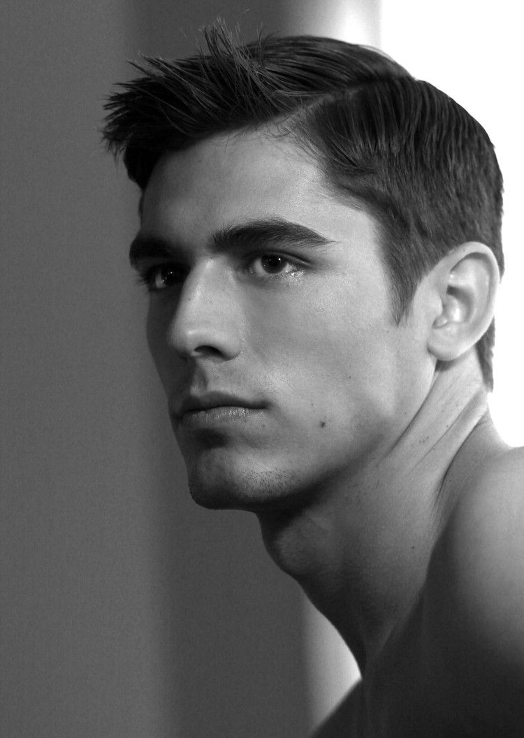 Haircuts for round faces men side part  hair  pinterest  handsome haircuts and eye