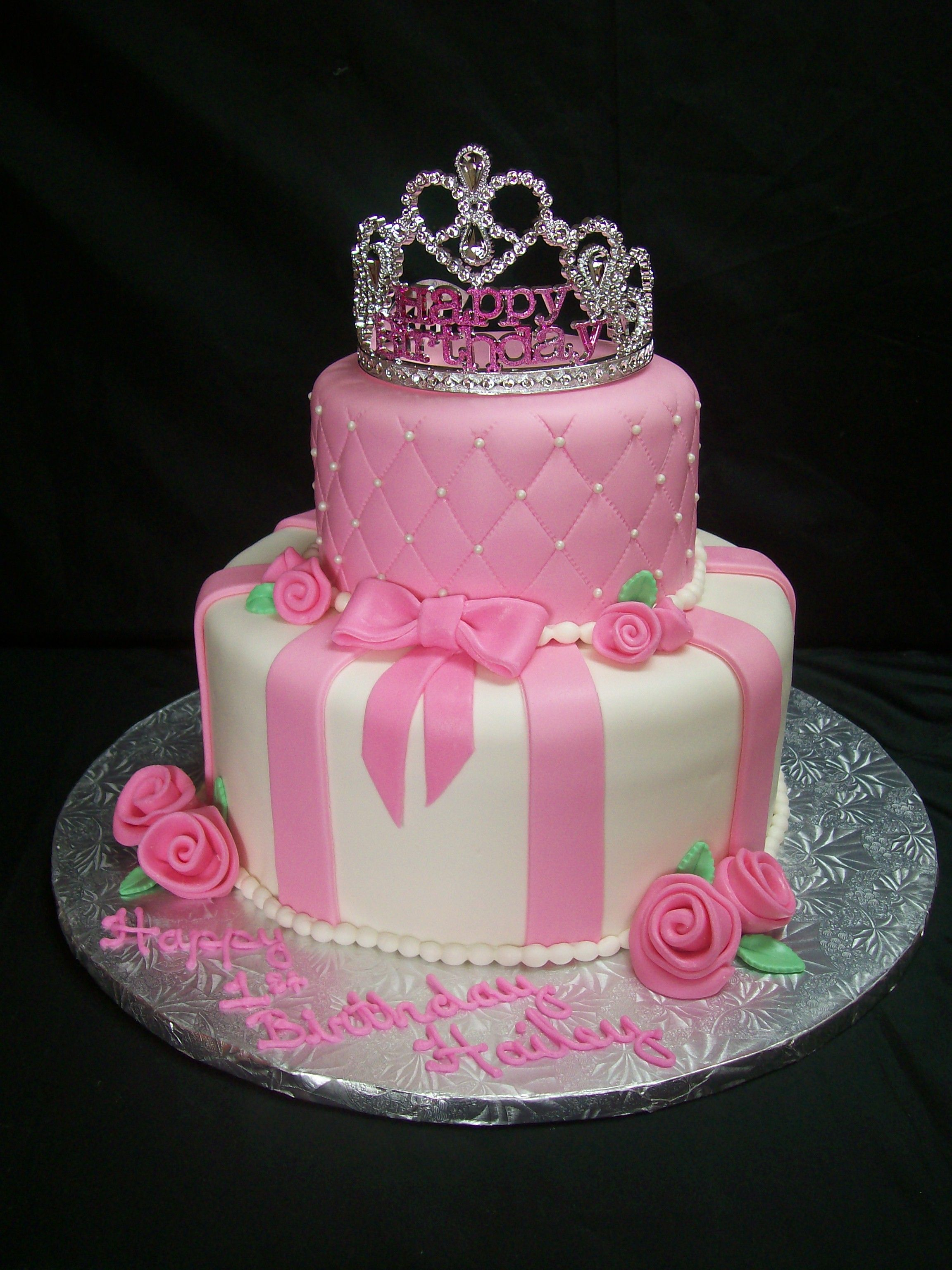 Pink Princess Themed Birthday Cake Ideas For Little Girl Birthday