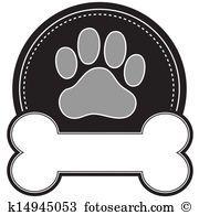 Dog Bone And Paw Clipart K14945053 Paw Print Clip Art Dog Paw Print Dog Paws