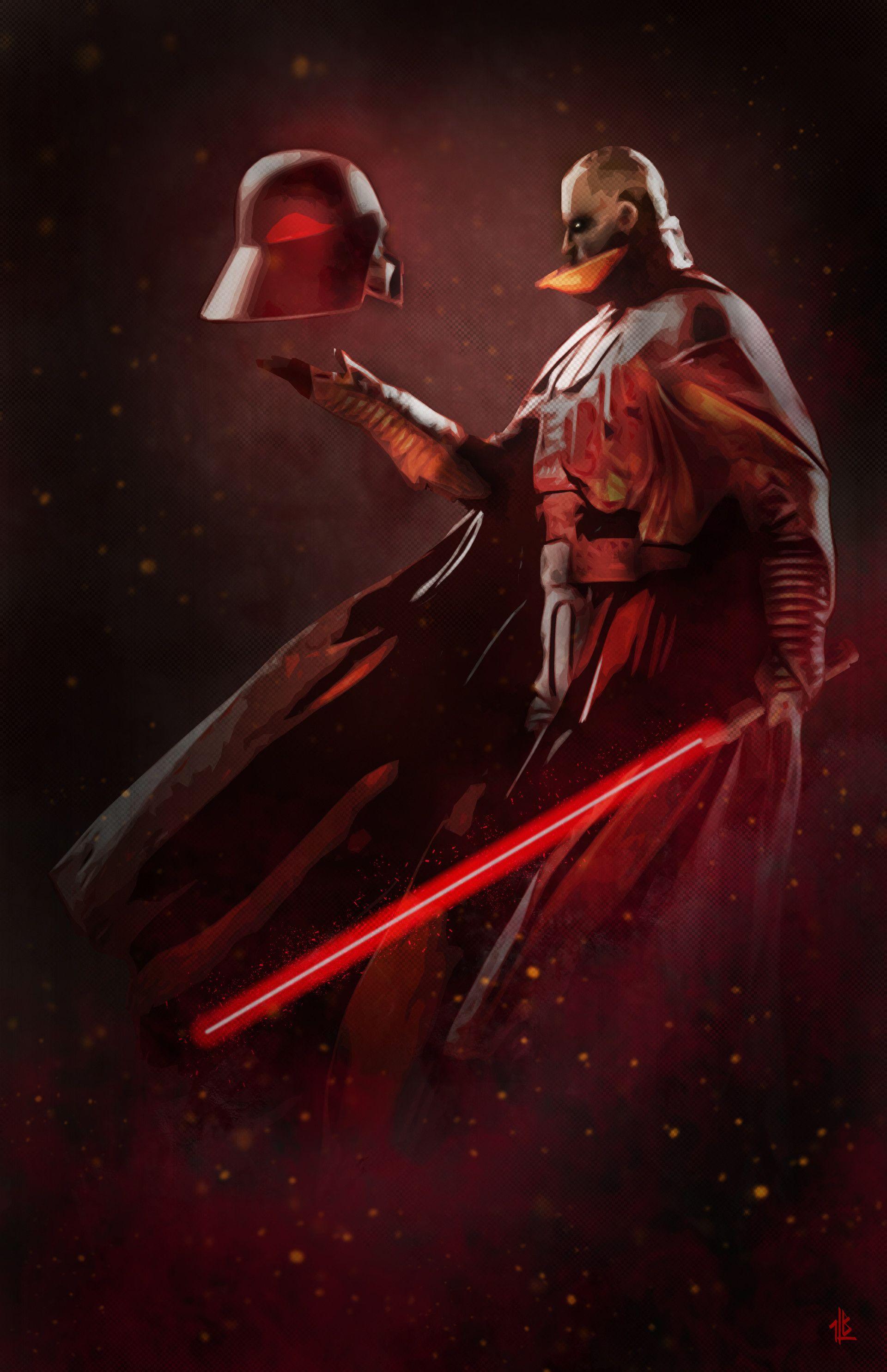 Artstation Lord Of The Sith Ben Laverock Star Wars Villains
