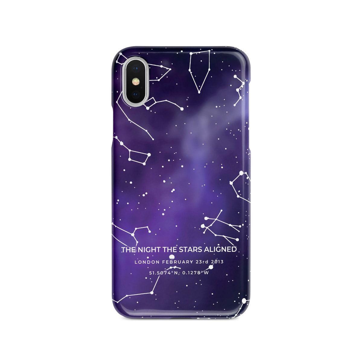 Custom Sky Purple Star Map Phone Case Personalized Constellation