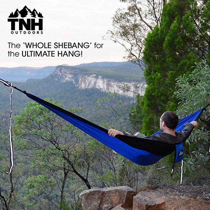 Medium image of tnh outdoors premium camping hammock  u0026 straps
