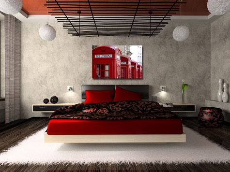 special red bedroom interior design – women's fashion | diseño