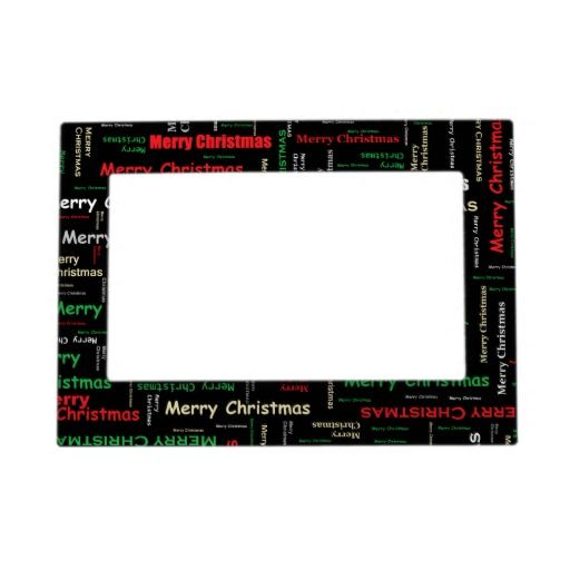 Merry Christmas! Magnetic 5x7 Picture Frame $16.90 | Pinterest Mini ...