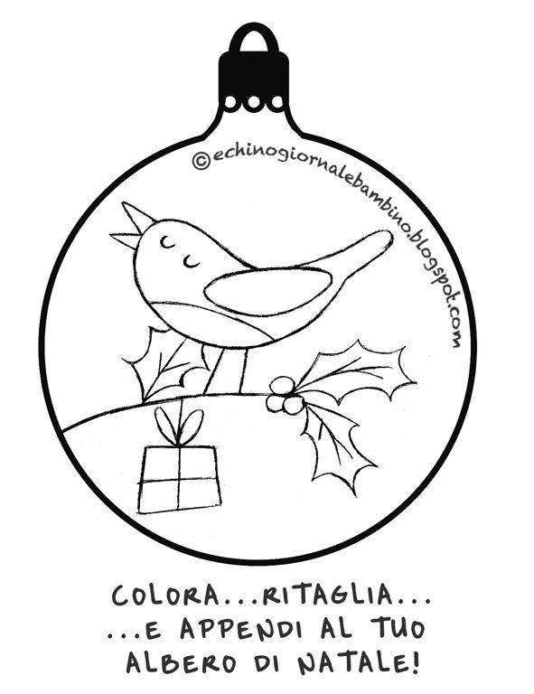 Immagini Di Palline Di Natale Da Stampare Disegni Di