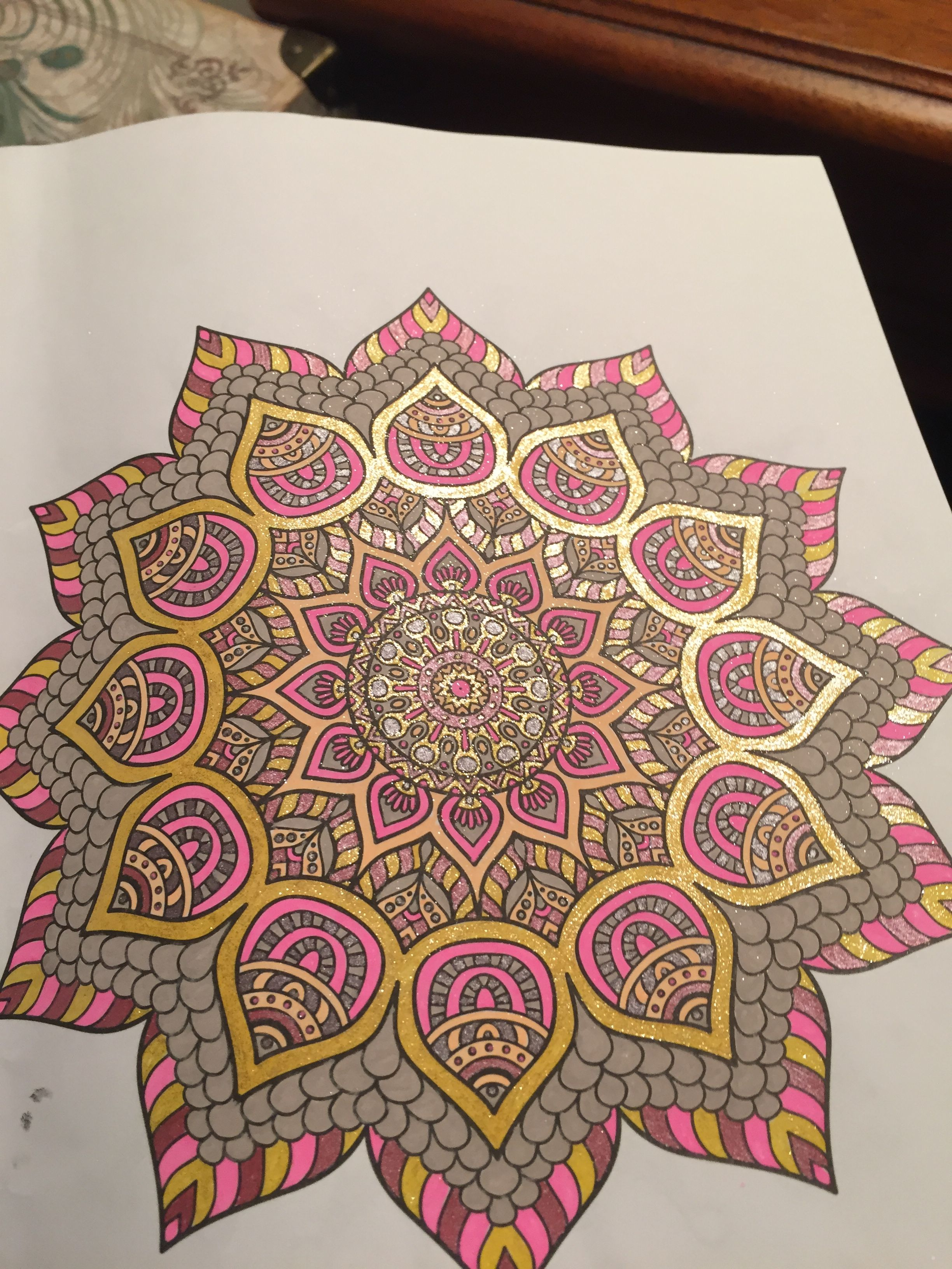Finished mandala by Patricia Gary  Mandala coloring pages