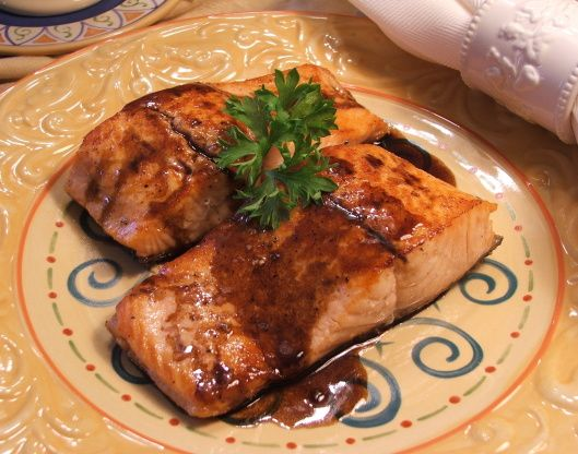 Seared Salmon With Balsamic Glaze Recipe - Food.com: Food.com