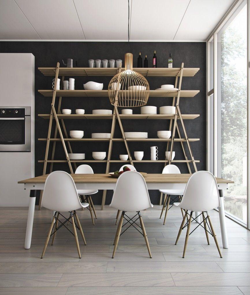 3ds max v ray making of black white dinning room