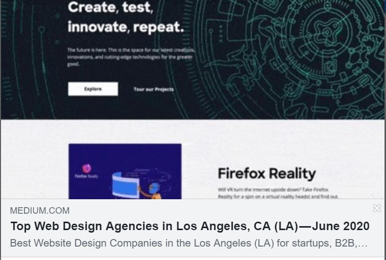 Top Web Design Agencies In Los Angeles Ca La September 2020 In 2020 Web Design Agency Web Design Top Website Designs