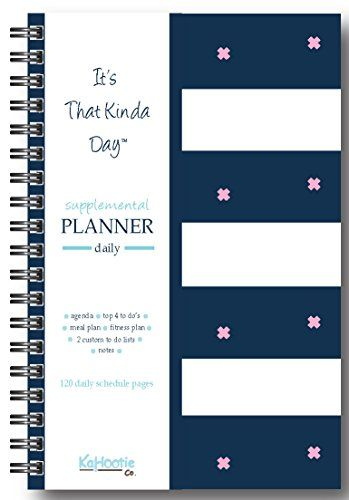 It S That Kinda Day When You Wish You Had A Personal Assistant Daily Planner 8 5 X 6 In Size Navy Stripe Kahootie Co Htt Daily Planner How To Plan Planner
