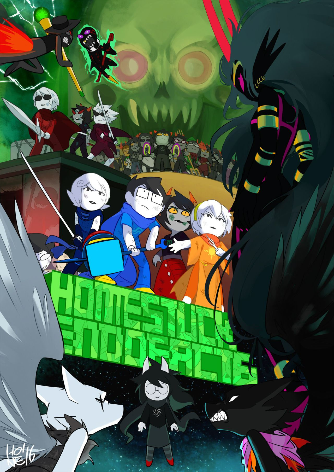 I did part of last shots for homestuck end of act