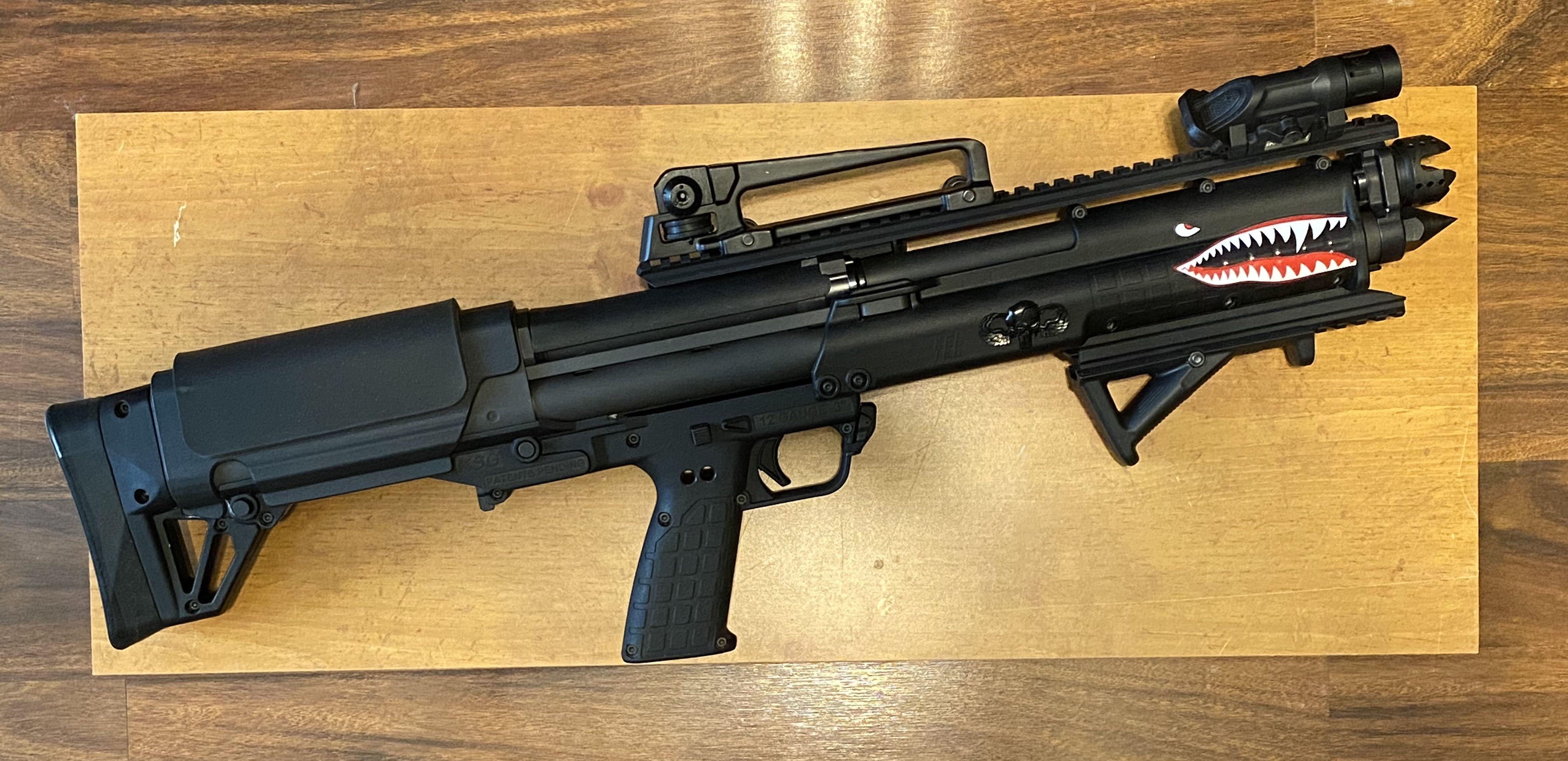 Custom KSG by Willis Gun | Guns, Shotgun