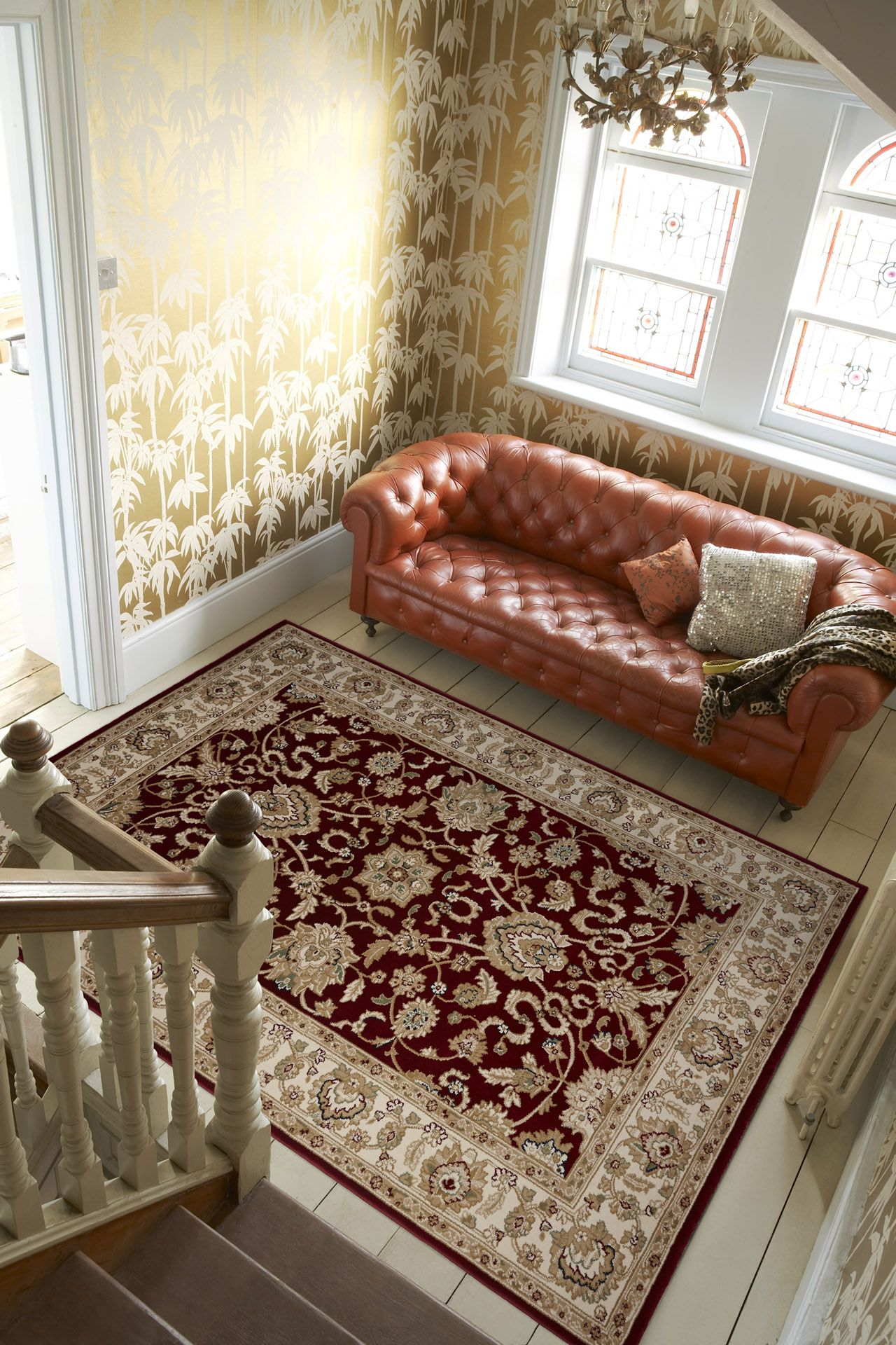 The Red Aristocrat Rug From Plantation Rugs Offer A Traditional