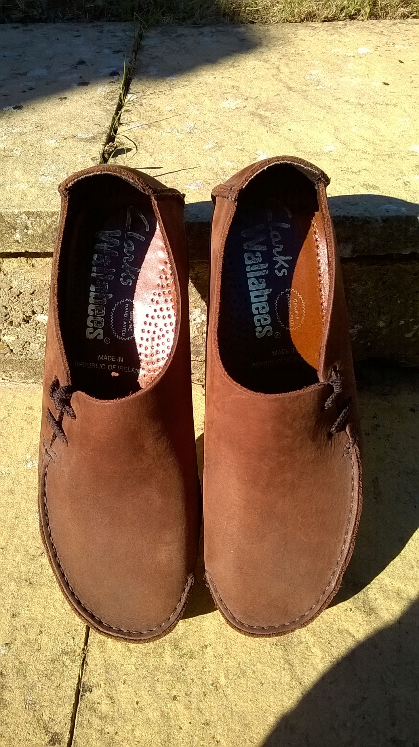 ab9018c60b28 Vintage Clarks Wallabees (Lugger) Brown (nubuck) leather Made In Republic  Of Ireland