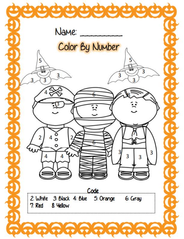 First Grade Halloween Math Ela Activities Math