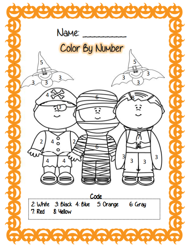 First Grade Halloween Math & ELA Activities Halloween