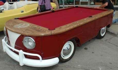 The Volkswagen Pool Table is a Chopped Retro Bus #mancave trendhunter.com