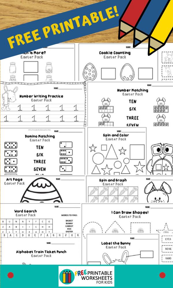 April Easter Printable Worksheets Pack Kids Worksheets Printables Worksheets For Kids Business For Kids