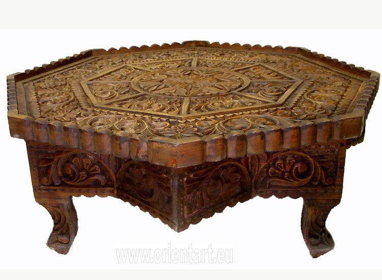 75 Cm Antik Look Massiv Holz Orient Teetisch Tisch Coffee Table Usbekistan Ebay Orient Antik Holz