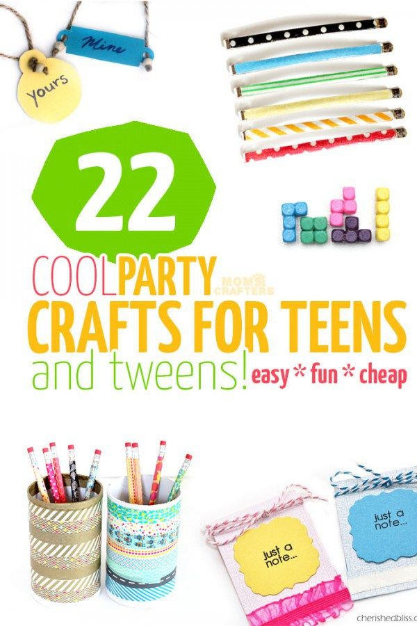 22 Party Crafts for Teens and Tweens | Delen met Emma | Pinterest ...