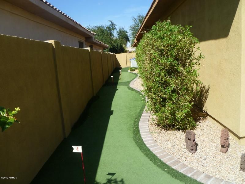 backyard ideas  clever use of space  putting green along long narrow side yard  smart