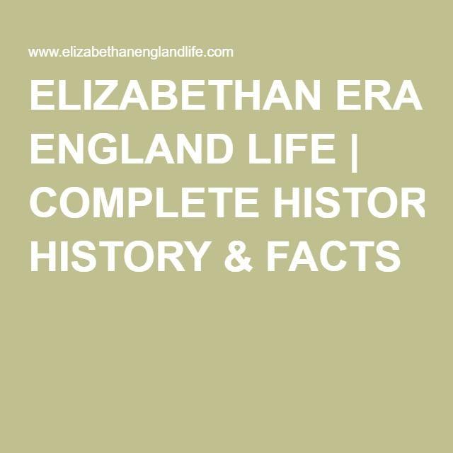 elizabethan era facts