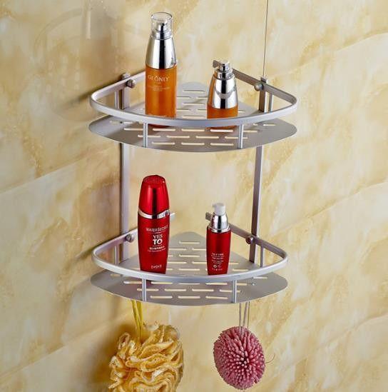 Space aluminum bathroom shelves aluminum shelf 3 layers bathroom