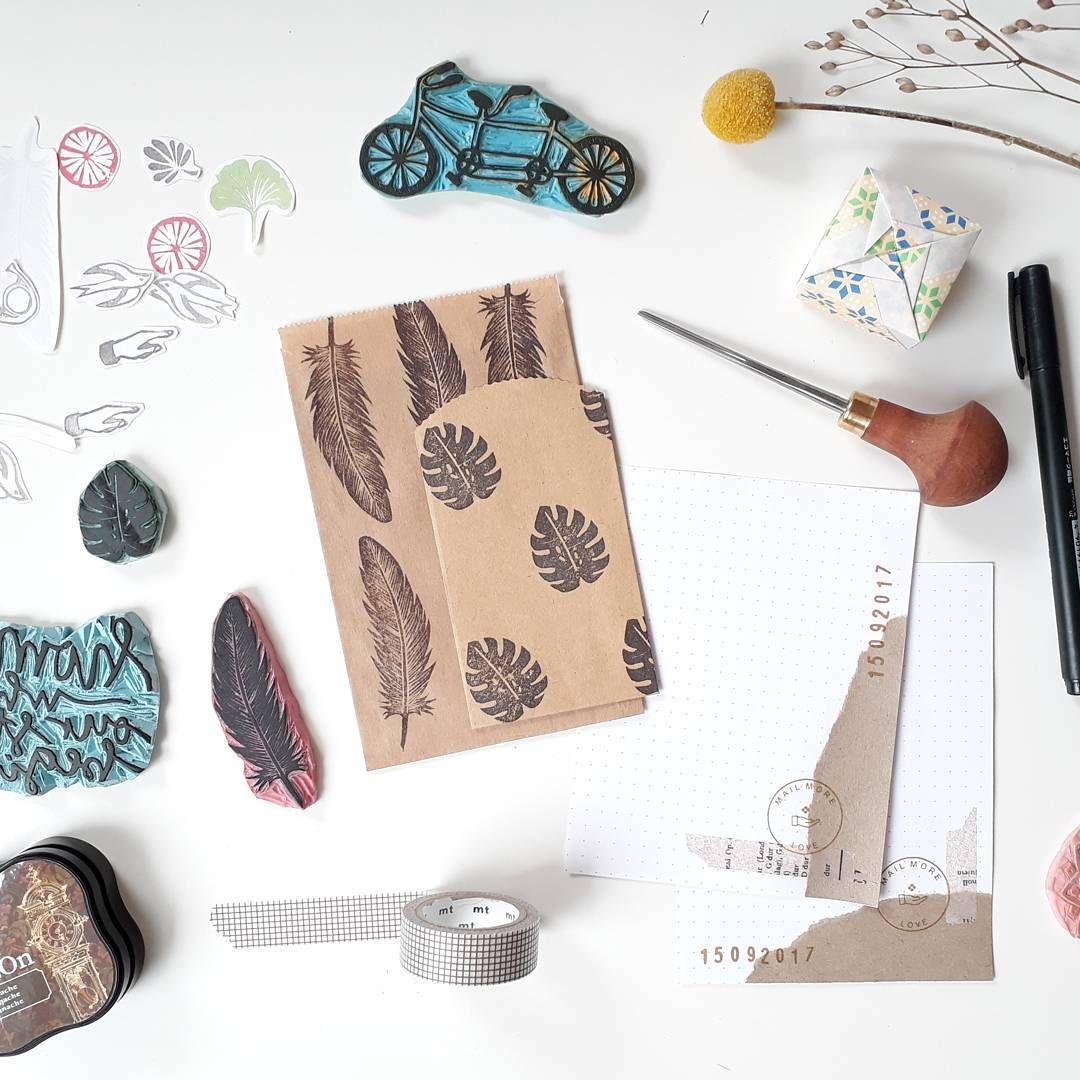 Yoojin Paperpilea Auf Instagram Stempel Stempel Selber Machen Stempel Schnitzen Stempel Diy Stamp Carving Stamp Carving Id Stamp Inspiration Origami