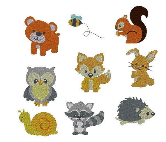 Embroidery File Set /'/'Animals/'/'
