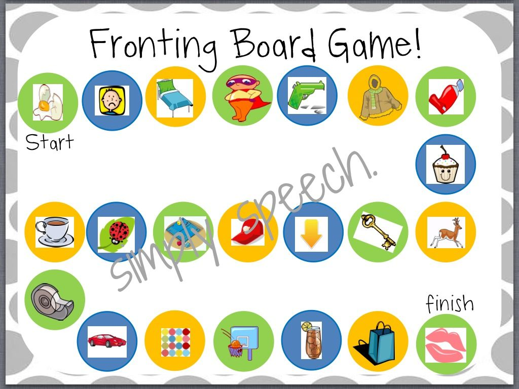 Simply Speech Fronting A Minimal Pairs Pack