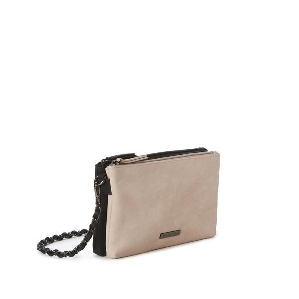 ba8c849d22a8 jeane   jax luxury vegan leather. 2-tone double pocket crossbody. cruelty  free and PETA-approved handbags. Montreal brand. Shop now