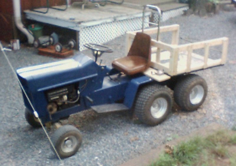 Home Built With A Dump Bed Tractor Idea Homemade Tractor Lawn Tractor