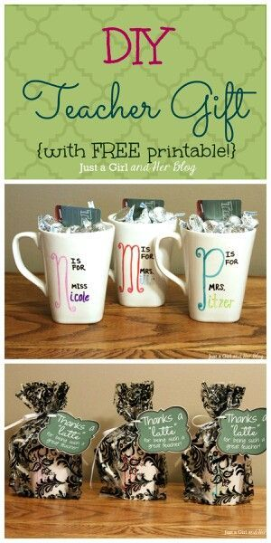 diy teacher gift with free printable pinterest gift teacher