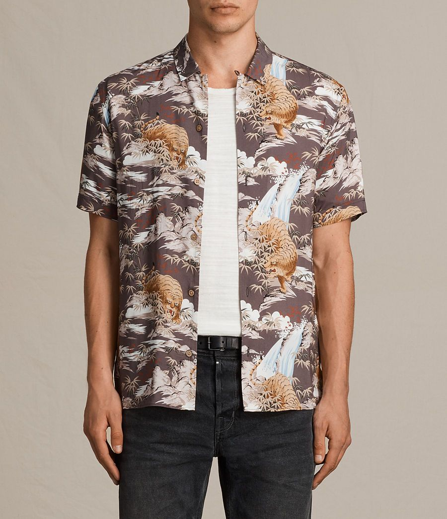 3b3e7b421033 AllSaints New Arrivals  Sumatra Short Sleeve Shirt
