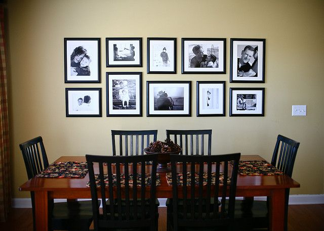 Picture frames for dining room best 25 dining room wall for Dining area wall ideas