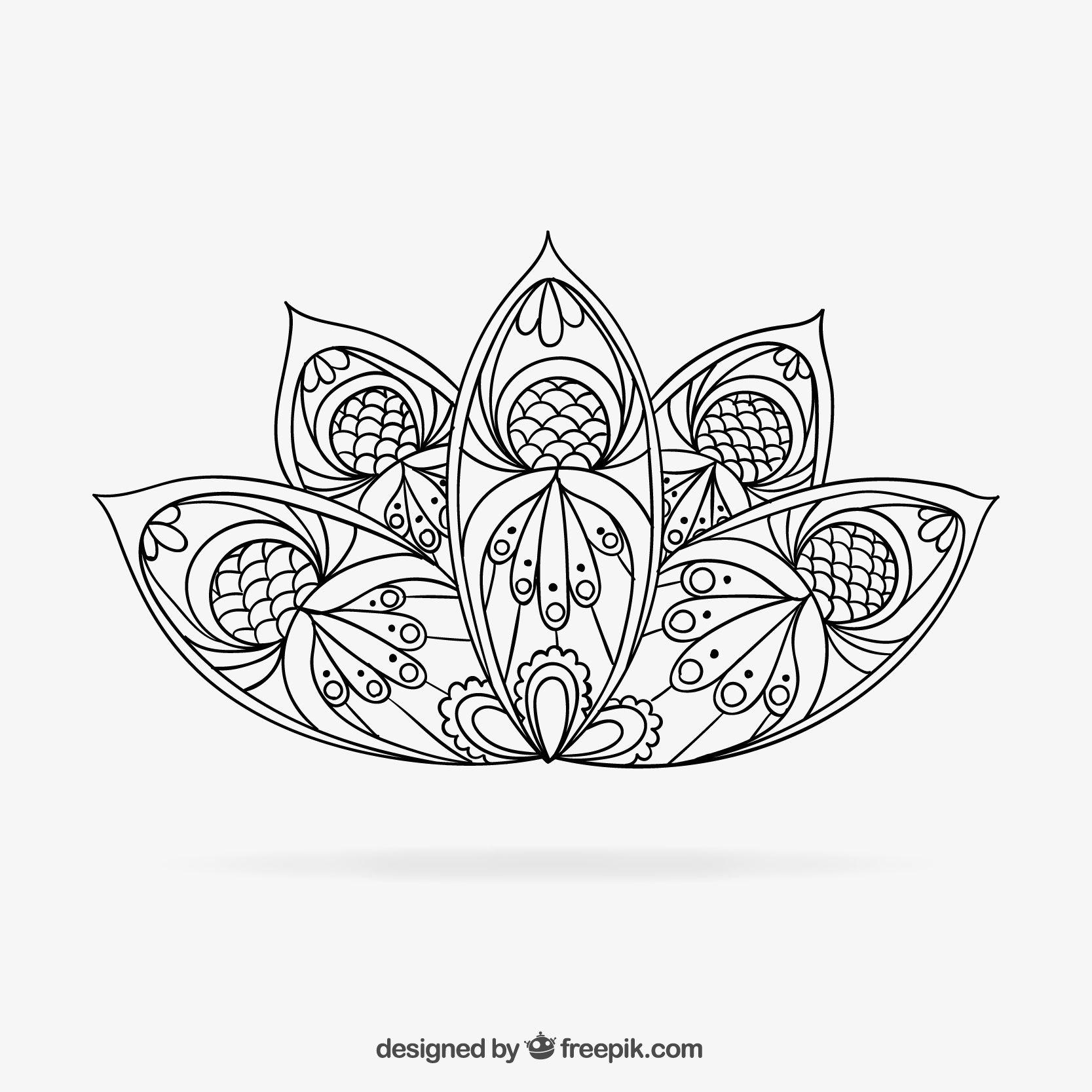 تلوين ماندالا للكبار برسم جاهز للطباعه How To Draw Hands Mandala Vector Mandala Drawing