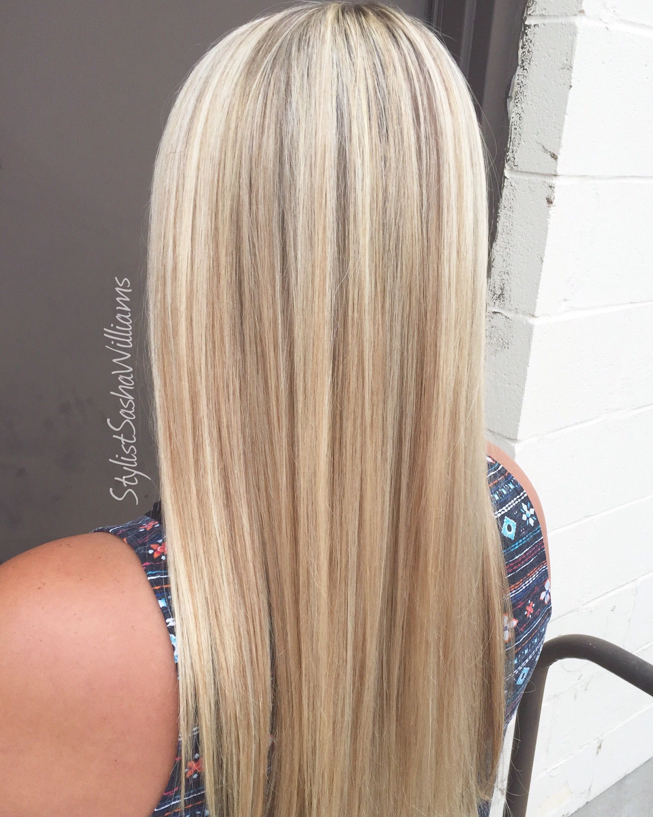 The Perfect Natural Blonde Foil Highlights And Toned