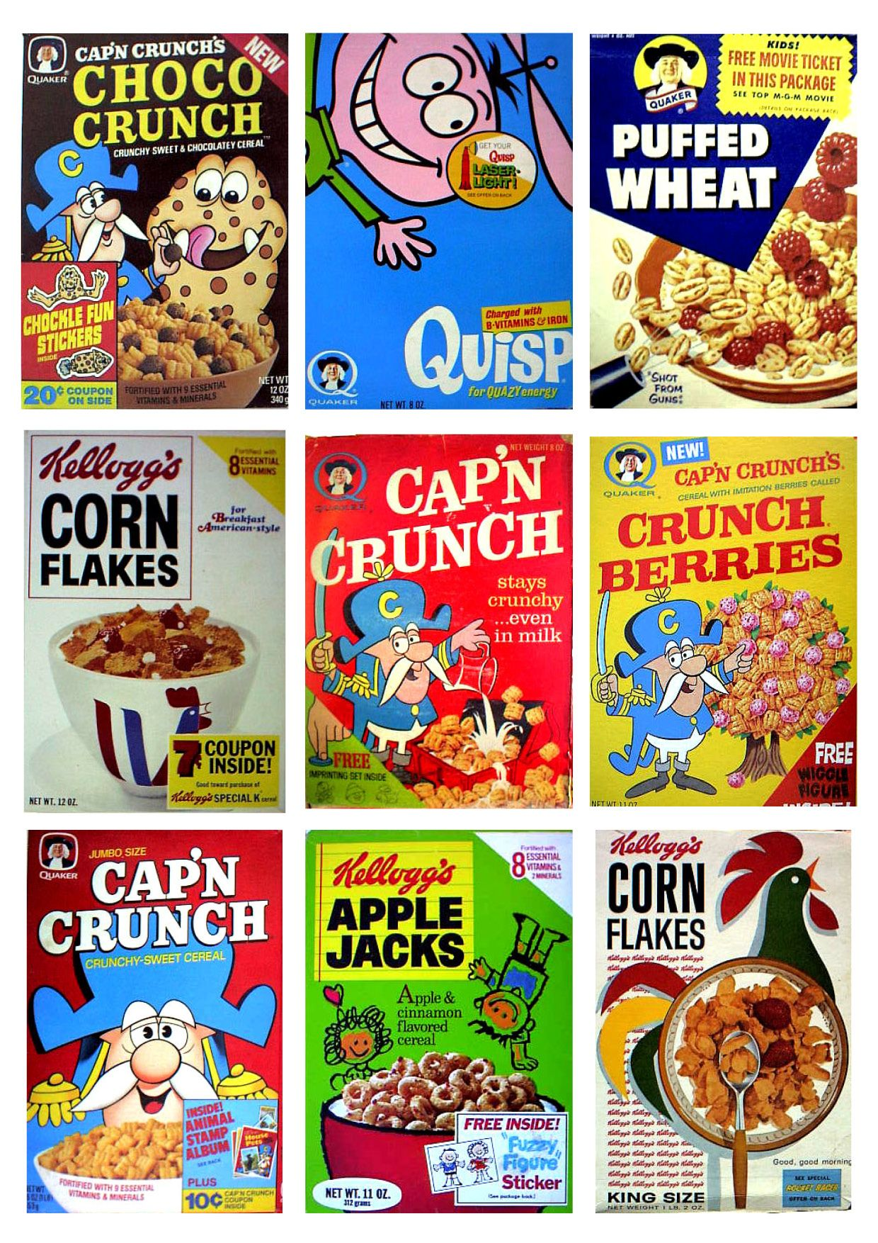 vintage #retro #kellogg's cereal packaging | cereal packaging