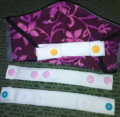 "Photo of How to Make a Face Mask Extender Strap with Snaps to ""Save the Ears"""
