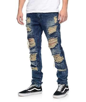 b24af6efb958 Crysp Denim Wayne Indigo Ripped Jeans | school | Ripped Jeans, Jeans ...