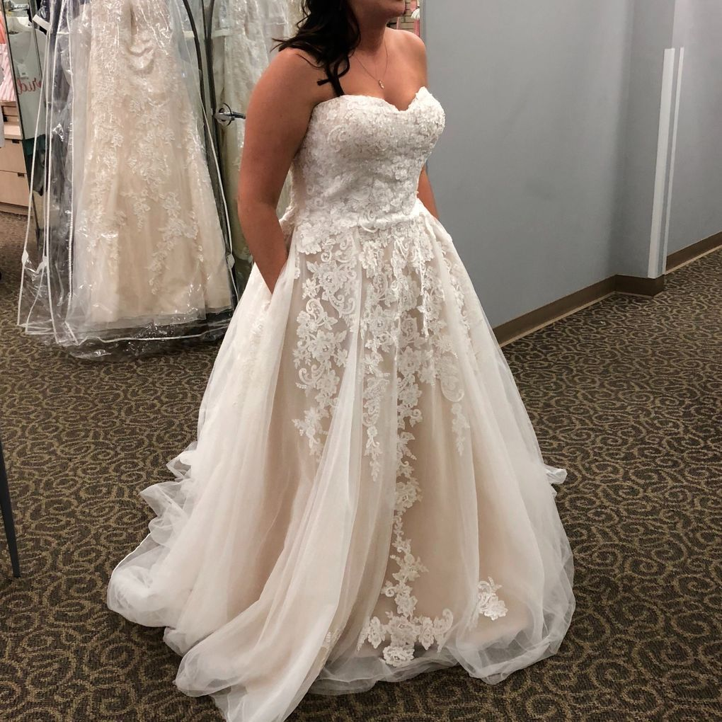 Plus Size Davids Bridal Ball Gown Full Figure Wedding Dress Davids Bridal Plus Size Wedding Dress Gallery [ 1512 x 804 Pixel ]