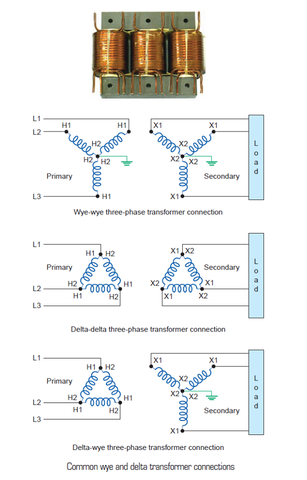 common wye and delta transformer connections ~ electrical Delta Transformers Diagrams common wye and delta transformer connections ~ electrical engineering pics más delta transformers diagrams