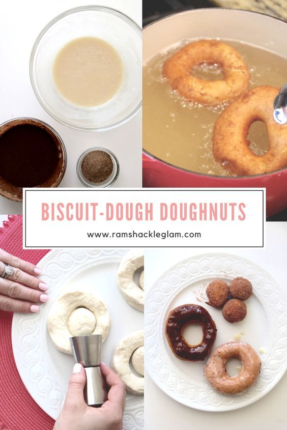 How to make doughnuts with canned biscuit dough (really).