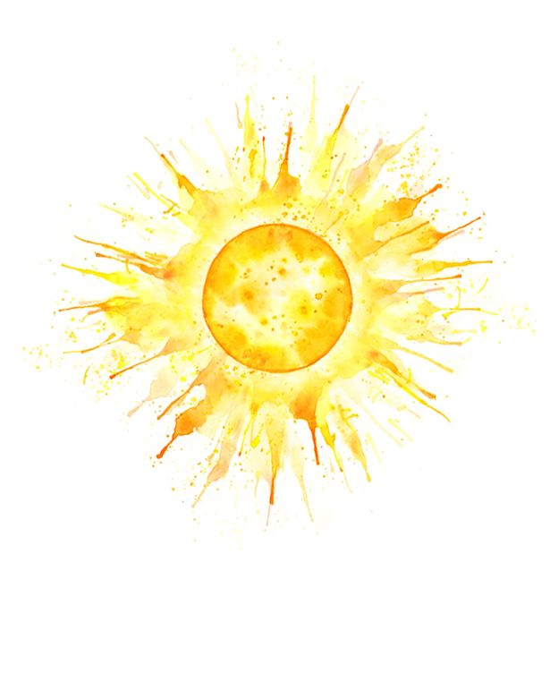 4 Sun Charm Sunshine Tattoo Watercolor Moon Watercolor Daisy