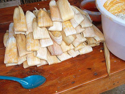 How to Make Organic Tamales with Organic Cornmeal & Lard #mexicancooking