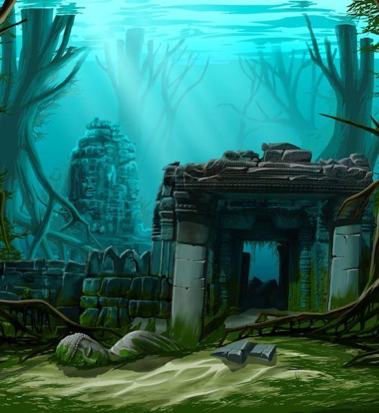 The Lost City Of Atlantis In 360 B C Plato Wrote About Atlantis A Major Sea Power In The Atlantic Ancient Atlantis Lost City Of Atlantis Underwater Ruins