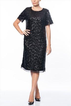 Buyuk Beden Siyah Elbise 65n1645 Siyah Elbise The Dress Elbise